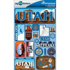 REMINISCE JET SETTERS UTAH TRAVEL VACATION DIMENSIONAL 3D SCRAPBOOK STICKERS