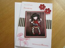 LARGE A5 Personalised Handmade SIMPLY GORJUSS Birthday Card: Daughter 16/18/21st