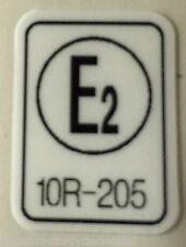 """HONDA CB125J """"E2"""" FRAME DECAL"""
