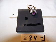 234J,10k gold ring, 5 Blue stones,scrap or resale,gift?