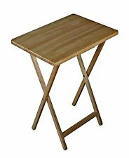 Natural  Folding Wood TV Tray  Dinner Table Stand Serving Snack Tea Portable