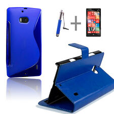 Blue Wallet 4in1 Accessory Bundle Kit Case Cover For Nokia Lumia 930