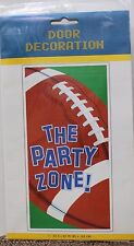 FOOTBALL DOOR DECORATION Super Bowl Party Birthday Sign Sports Zone Adult NEW