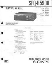 Sony Original Service Manual für SEQ-H5900