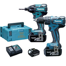 Kit Litio Makita 18volt Dlx2007jx 2 Avvitatori 3 Batterie 18v 3.0ah Nuovo !!!