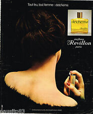 PUBLICITE ADVERTISING 055  1976  REVILLON  parfum femme DETCHEMA