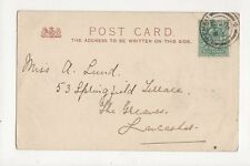 Miss A Lund Springfield Terrace The Greaves Lancaster 1902 333a