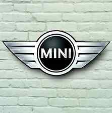 MINI BADGE LOGO 2ft GRANDE Garage Segno Muro Placca Classic Workshop Auto Cooper