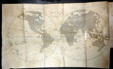 1816 World Map, Missions to Java China Surinam, Conversion of Indians Laplanders