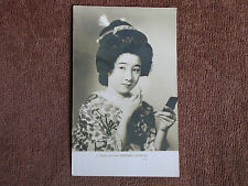 Japan/Nippon Musume-Maiden in Traditional Costume Applying Makeup-Compact/RPPC