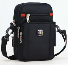 Men Swiss Gear Large Shoulder Bag Casual Messenger Bag TravelBusiness Waist Bag