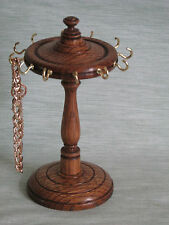 WOODEN DARK OAK BRACELET JEWELLERY STAND / CHAIN HOLDER HANGER / DISPLAY TREE