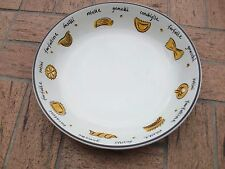 "POTTERY BARN Made in ITALY With Pasta Pictures Bowl Serving Dish 13""Lx3""T RARE!"