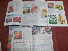 lot de 5 catalogues sur les fleurs - jardin - nature - agricole ( ref 19 )