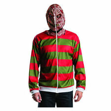Nightmare on elm street pull capuche freddy krueger costume zip-up hoodie xs