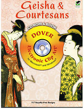 GEISHA & COURTESANS DESIGNS COSTUMERY IMAGES DOVER CLIPART[117 ROYALTY FREE]NEW