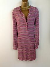 NOA NOA Pink Floral Shirt Shift Dress Offce Casual Holiday UK Size 10 12