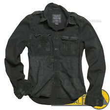Surplus Vintage Mens Military Long Sleeve Casual Cotton Shirts, Army Tactical