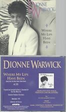 CD--DIONNE WARWICK--WHER MY LIPS HAVE BEEN--PROMO