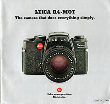 PHOTOGRAPHY - LEICA R4-MOT - THE CAMERA THAT DOES EVERYTHING SIMPLY - LEITZ (nd)