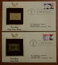 2x Golden Replicas Stamps Comedians Early Motion Pictures-Early Radio #60
