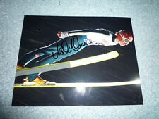 MICHAEL UHRMANN signed autograph 8x10 inch  In Person SKI JUMPER Gold Olympia 02