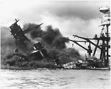 USS ARIZONA 8X10 PHOTO NAVY US USA MILITARY BB-39 SHIP BATTLESHIP SINKING