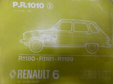 RENAULT R 6 R6 MANUEL PIECES DETACHEES P.R.1010 PIECES REFERENCE DESSIN 1977