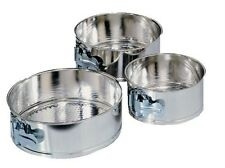 3 Pc Mini Springform Cake Pan Set Baking Kitchen Bakeware Cheesecake Piece Fox R