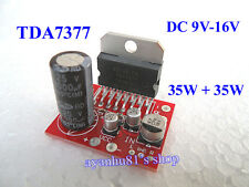 DC 12V 9V-16V Mini TDA7377 Dual Channel Stereo 35W*2 Audio Power Amplifier Board