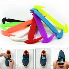 12Pcs No Tie Shoelaces Elastic Silicone Shoe Lace For Women Men Shoes Shoelaces