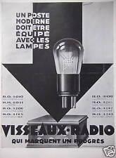 PUBLICITÉ LES LAMPES VISSEAUX RADIO QUI MARQUENT UN PROGRES