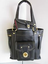 Coach Legacy SET 12888 GIGI Business Work Tote & Wallet BLACK Leather HTF BEAUTY