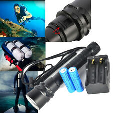 6000Lm 3*XM-L2 LED 100M Buceo Flashlight Linterna Diving Torch 2X18650 Cargador