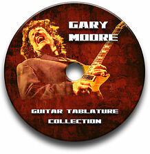 Gary Moore Rock Guitar Tabs Tablaturas canción Libro Antología Cd Software