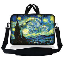 "17.3"" 17.4 Laptop Sleeve Bag Case Pouch w Handle & Shoulder Strap Starry Night"