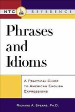 Phrases and Idioms, Spears, Richard, Good Condition, Book