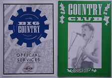 Big Country Country Club Issue 15 UK 1987 Fanclub Mag + Merch Folder