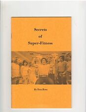 Secrets Of Super Fitness Don Ross Bodybuilding muscle booklet 50 pg, 1972