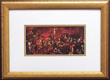 "LeRoy Neiman ""Crucifixion after Tintoretto""- Newly CUSTOM FRAMED Jesus Christ"