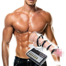 Man Male Pulse Electric Shock Penis Ring Sleeve Aid Enlargement Traning Toy