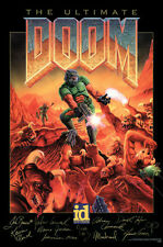 24x36inch The Ultimate Doom Video Game Poster Canvas Print Wall Art
