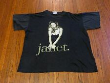 VTG 90's 93/94 Janet Jackson World Tour Concert R&B  Hip-Hop Black T-Shirt sz XL