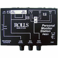 Rolls PM351 3 Channel Personal Monitor Station Headphone Mix