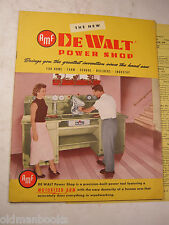 1954 AMF DEWALT POWER SHOP BROCHURE PRICE SHEET TOOL CATALOG