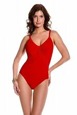 NEW MAGICSUIT MIRACLESUIT 16 46 Red SLIMMING SWIMSUIT $144 RV ROXY One Piece