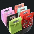 Christmas Tree/Dots/Bowknot Christmas Gift Wrapping Party Stick Handle Paper Bag