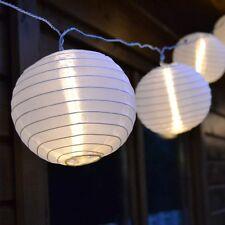 Lampion Lichterkette mit 40 LED-Lampions Kugeln Ø 7,5 cm Garten Terrasse Party