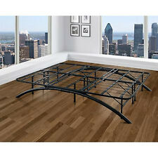 Queen Platform Bed Frame Black Arch Metal Curved Modern Sturdy Elegant Furniture