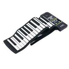 88 Keys Roll Up Piano Midi Out Music Recording Foot Pedals Flexible Keyboard